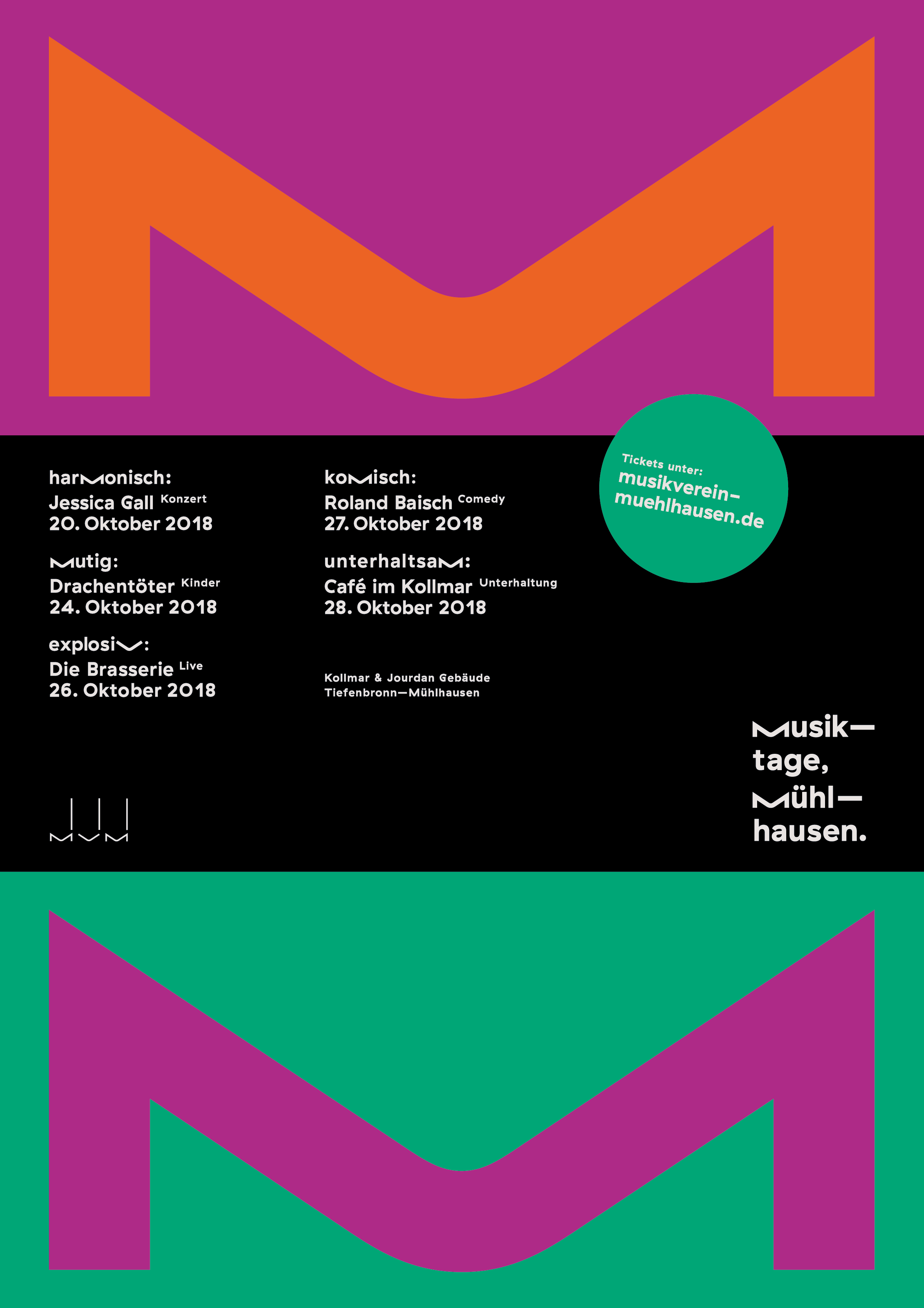 Plakat Musiktage 2018
